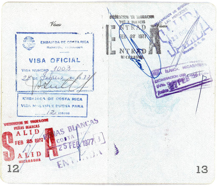 Bernie Winklemann Passport - pages 12 and 13