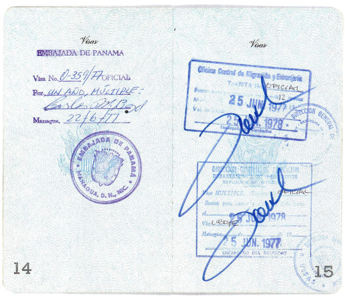 Bernie Winklemann Passport - pages 14 and 15