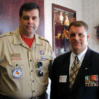 Doug Potratz and Ken Locke, Organizers of the Memorial/Reunion: Ken Locke and Doug Potratz.(from left to right.)